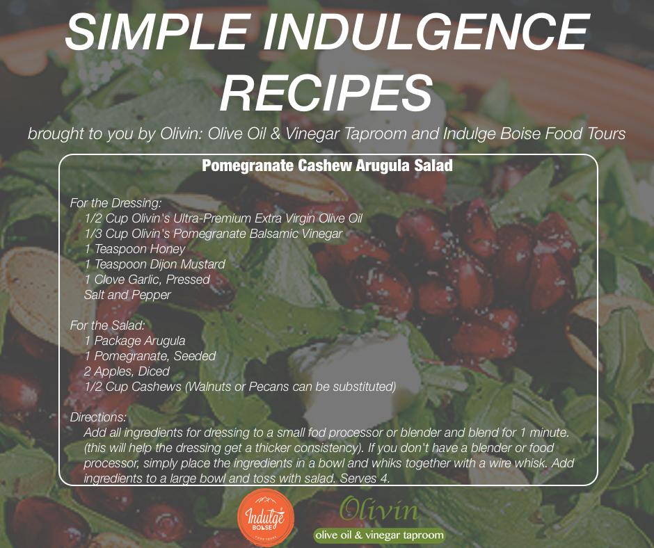 Pomegranate Cashew Arugula Salad