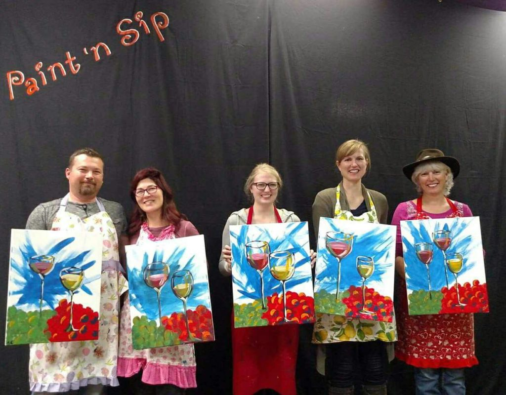 Indulge Boise highlights a Paint 'n Sip Experience as one of our 5 Delicious Ways to Celebrate Valentine's Day in Boise